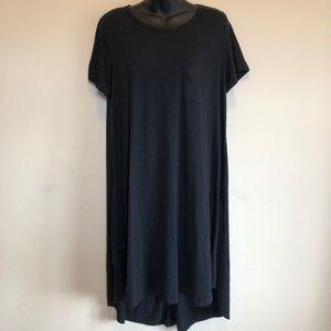 LuLaRoe Black Carly Dress High Low Circle Hem